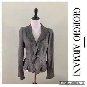 Giorgio Armani Soft Wool Blazer Size small Gray